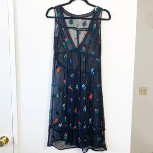Anthro Floreat Sheer Floral Embroidered Dress 2
